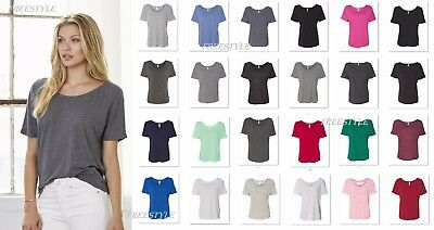 4259dda4 Bella+Canvas - Women's Slouchy Relaxed Fit Top Ladies Shirt Marbled Tee -  8816