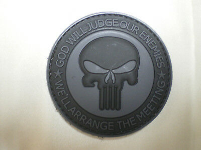 Punisher Skull PVC Patch Military Tactical Combat Morale Patch Navy Seal Team
