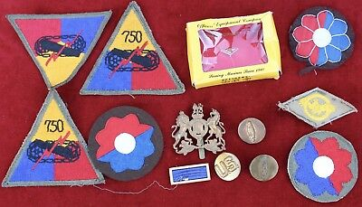 Vintage WWII United States US Military Bullion Sew On Patches & Insignia Lot