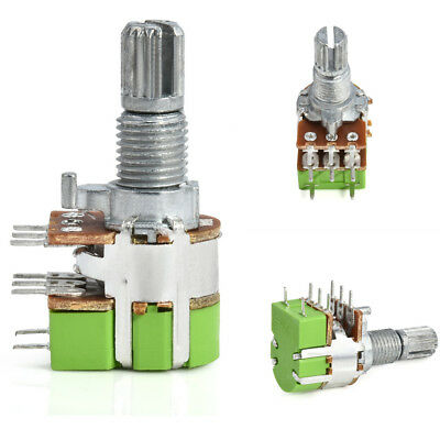 New B50K 50K Ohm Dual Linear Taper Volume Control Potentiometer Switch