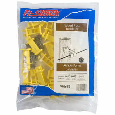 Fi-Shock 25-Pack Extendable High-tensile Wood Post Electric Fence Insulators