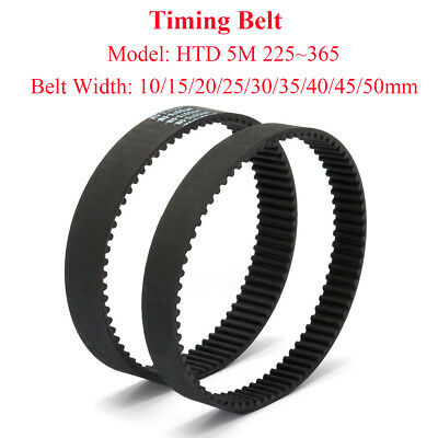 HTD 5M Timing Belt Arc Teeth 5mm Pitch 10~50mm Width Rubber Drive Belt 225~365mm