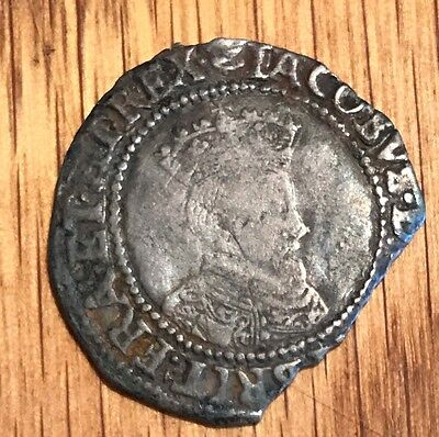 1604-1607 James I Silver 6 Pence  Second Issue  S6517 1733