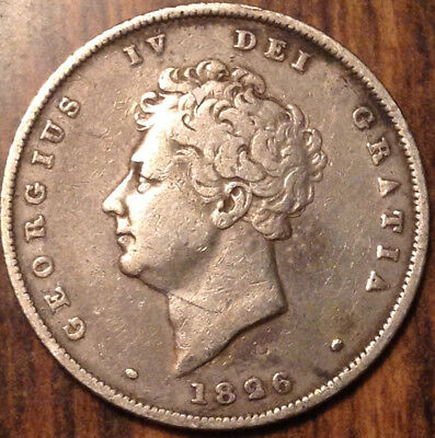 1826 Uk Gb Great Britain Silver Shilling In Very Nice Condition !