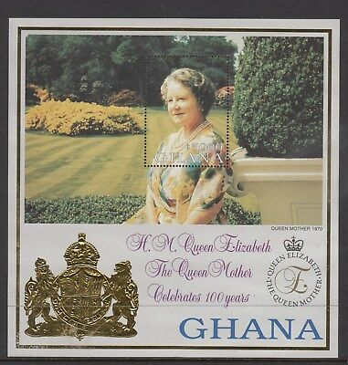Ghana: 2000,QEII's Mother Celebrate 100 years, stamp Miniature sheet. MUH&Scarce