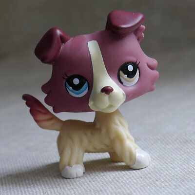 6.in hand red-brown Collie dog Littlest pet shop LPS mini Action Figures #1262
