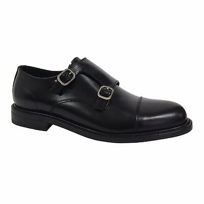 BERWICK 1707 scarpa uomo nero mod 4386 H0192 100% pelle MADE IN SPAIN