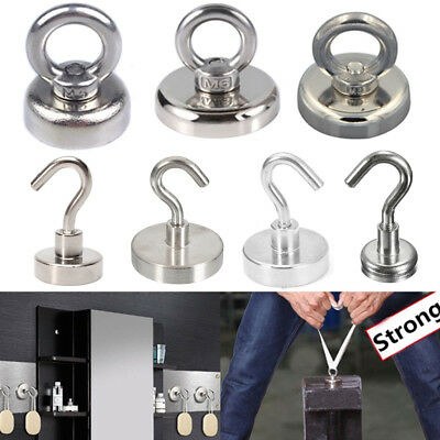 11 Style Recovery Magnet Hook Strong Sea Fishing Diving Treasure Hunting Pull UK