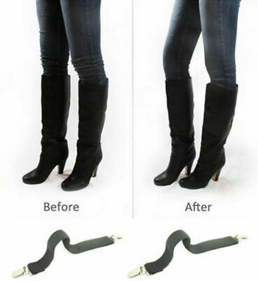 2Pcs Boot Clips Elastic Adjustable Leg Straps Pant Stirrups with Heavy Clips