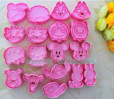 10 Shape 3D Cartoon Fondant Cake Decoration Mold Cookie Cutter DIY Biscuit Mould