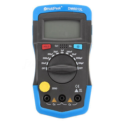 DM6013L Handheld Digital Capacitor Capacitance Tester Meter LCD Backlight Manual