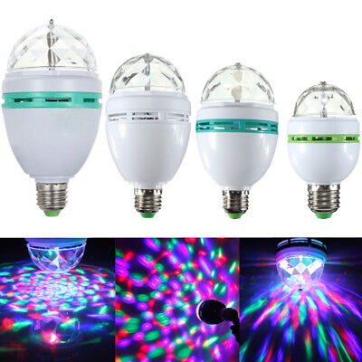3W E27 RGB DJ Disco Crystal LED Ball Bulb Lamp Voice Auto Rotating Stage Light