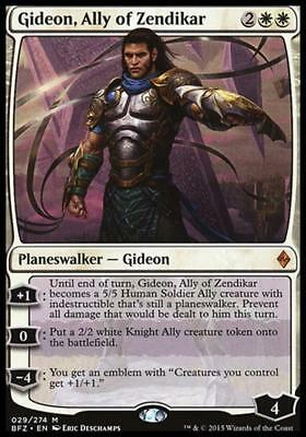 GIDEON, ALLEATO DI ZENDIKAR - GIDEON, ALLY OF ZENDIKAR Magic BFZ Mint