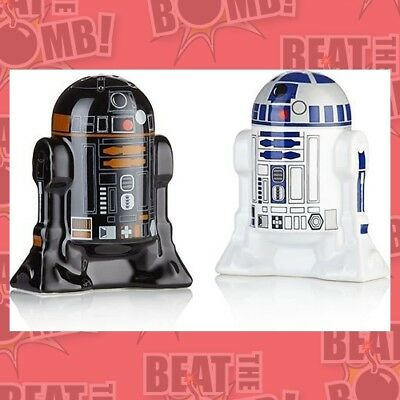 Star Wars Salt And Pepper Shakers R2d2 And R2q5  - BRAND NEW