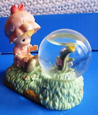 Vintage Enesco Precious Moments Snowglobe/waterball - Girl W/flower 1998