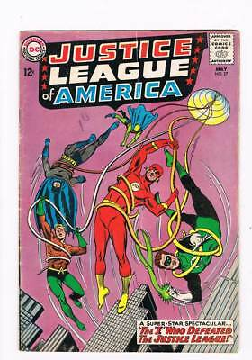 "Justice League of America # 27 The ""I"" Who Defeated the JLA ! grade 5.0 scarce !"