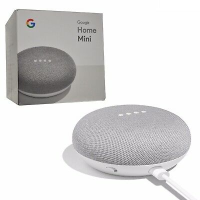 New Google Smart Home Mini Chalk with Voice Activated Wireless Speaker System