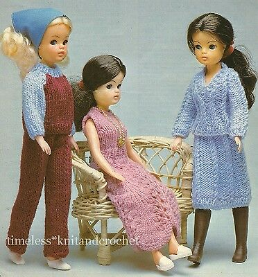 Knitting Pattern For Sindy Barbie Doll Clothes Party Dress