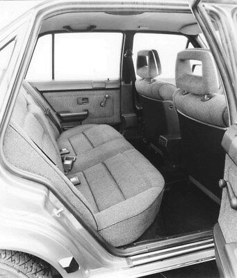 1982 Audi 100 CS Rear Interior ORIGINAL Factory Photo oub9143