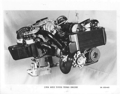 1984 Audi 5000S Turbo Engine ORIGINAL Factory Photo oub9188