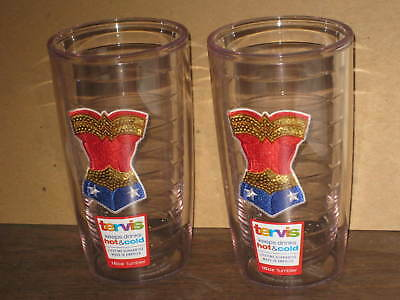 Lot Of 2 Wonder Woman Tumblers By Tervis