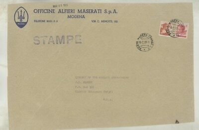 1965 Maserati ORIGINAL EMPTY Factory Mailing Envelope INCOMPLETE ww3913