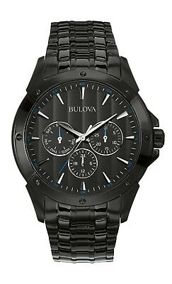Bulova Classic Men's Quartz Multifunction Black Bracelet 43mm Watch 98C121