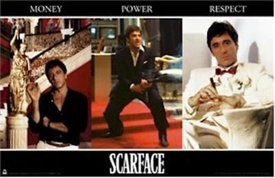 SCARFACE ~ MONEY POWER RESPECT 22x34 MOVIE POSTER Al Pacino Tony Montana