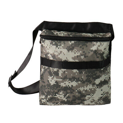 """Metal Detector Camo Bag Finds Pouch with 42"""" Waist Belt for Metal Detecting"""