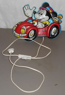 alte Micky Maus Lampe Mickey Mouse im Auto Disny Leuchte Wandlampe