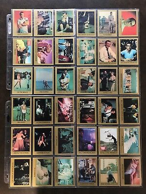 """1993 """"JAMES BOND 007"""" SERIES 1 INCOMPLETE MOVIE 80 Card Lot SEAN CONNERY ECLIPSE"""