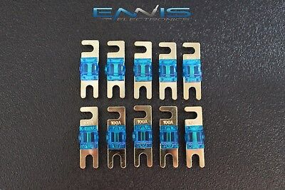 50 AMP MINI ANL FUSES GOLD PLATED INLINE AFC AFS BLADE AUTO HOLDER MANL50 5