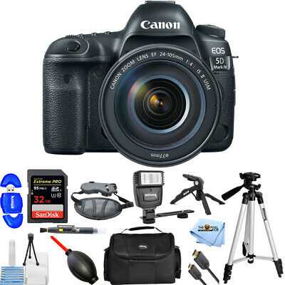 Canon EOS 5D Mark IV DSLR Camera with 24-105mm f/4L IS II USM Lens!! PRO BUNDLE