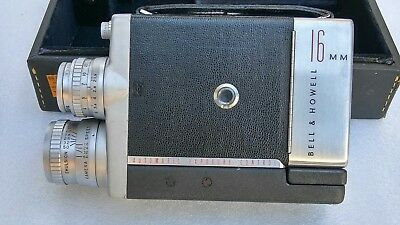 Vintage Bell & Howell Model 200 EE 16MM Movie Camera With Case & Film