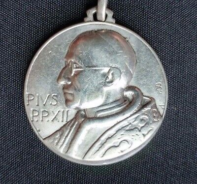 Vintage – Pope Pius Xii / St. Christopher –Silver 800 – Pendant - Pre-Owned