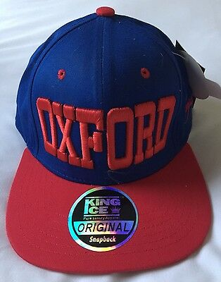 King Ice Snapback Original Blue & Red Sports Cap OXFORD ~ Size Adjustable
