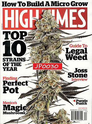 High Times December 2017, Top 10 Strains Of The Year, Brand New/Sealed