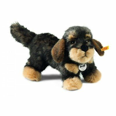 Steiff Moritz Dachshund Plush, Dark Grey Tipped