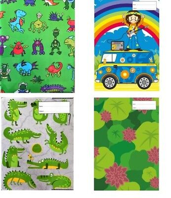 Reusable School Book Covers. A4 Many Designs