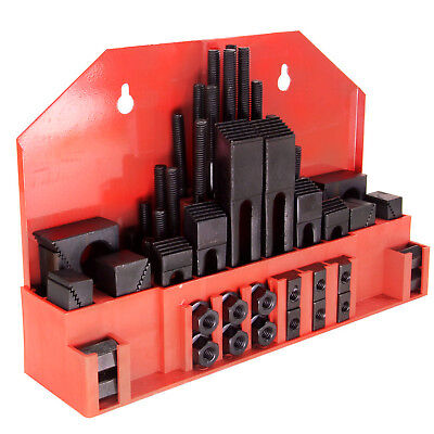 """58Pc 7/16"""" Slot ,3/8"""" Stud Hold Down Clamp Clamping Set Kit Bridgeport Mill"""
