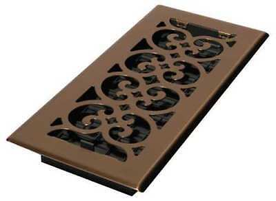 DECOR GRATES SPH410-A 4x10 Scroll Steel Plated Antique