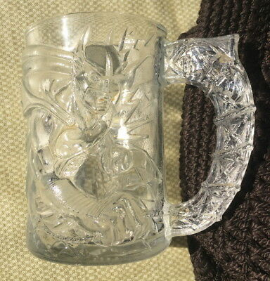 Batman Forever Clear Glass 3D Mug Cup 1995 2 Faced 4 In Statue Liberty Mcdonalds