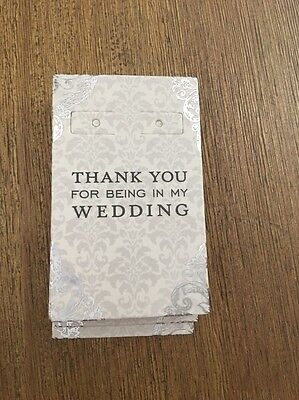 Thank You For Being In My Wedding Earring Holder Gift