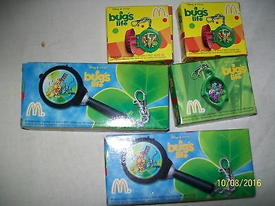 5  McDonald's Happy Meal Disney A Bug's Life Clip-On Toys