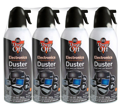 Falcon Dust-Off Compressed Air Duster Computer Keyboard Cleaner Canned Air 4pack