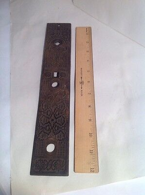 VICTORIAN DOOR LOCK HARDWARE  Plate RUSSELL & ERWIN 12 Inches Long