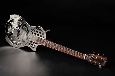 RESONATOR GITARRE JOHNSON JR-994 E chrome finish +Tonabnehmer (UVP 2017: 870 €)