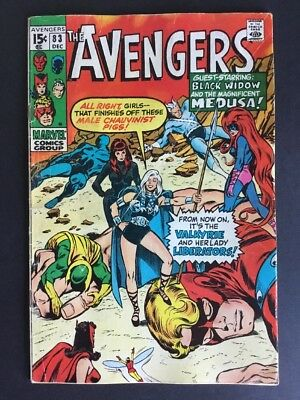 Avengers #83 First Appearance Valkyrie Marvel Comics 1970 Thor Ragnarok Us Cent