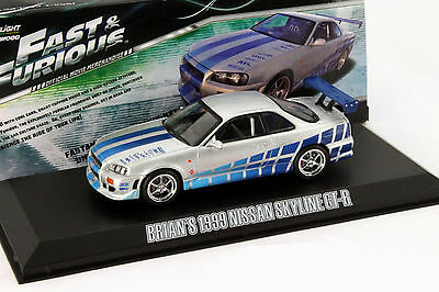 Brian's Nissan Skyline GT-R Year 1999 FAST AND FURIOUS MOVIE 1:43 Greenlight