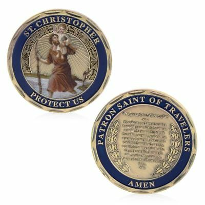 St.Christopher Patron Saint Of Travelers Commemorative Challenge Coin Collection